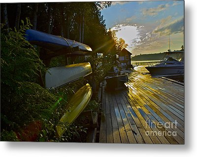 Metal Print featuring the photograph Lakeside by Alice Mainville