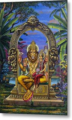 Lakshmi Narasimha Metal Print by Vrindavan Das