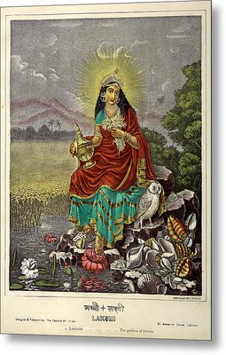 Lakshmi The Goddess Of Fortune Metal Print by British Library