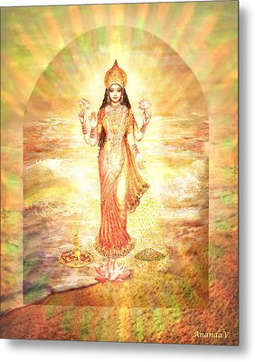 Lakshmis Birth From The Milk Ocean Metal Print