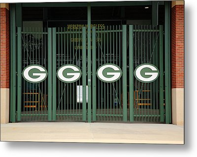 Lambeau Field - Green Bay Packers Metal Print by Frank Romeo
