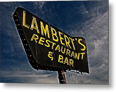 Metal Print featuring the photograph Lambert's Restaurant And Bar by Andy Crawford