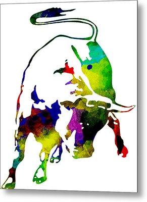 Lamborghini Bull Emblem Colorful Abstract. Metal Print
