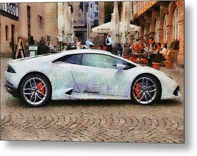 Lamborghini Huracane Lp 610-4 Parked In The City Metal Print