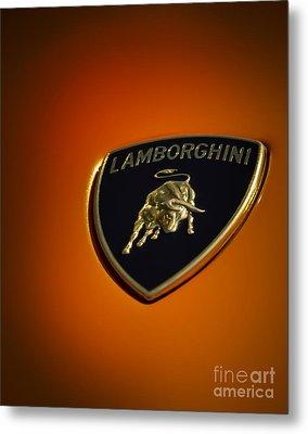 Lamborghini Murcielago Badge Emblem Metal Print