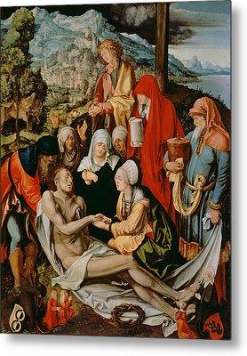 Lamentation For Christ Metal Print by Albrecht Durer or Duerer