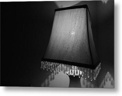 Lamp Shade Bw Metal Print