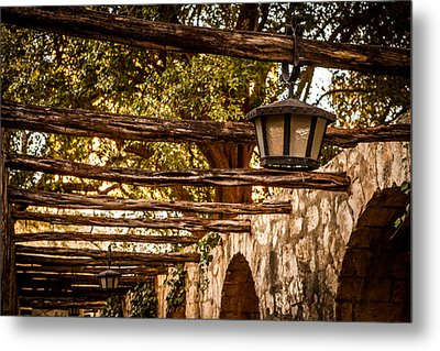 Lamps At The Alamo Metal Print by Melinda Ledsome