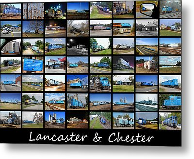 Lancaster And Chester Railway Collage Metal Print by Joseph C Hinson Photography