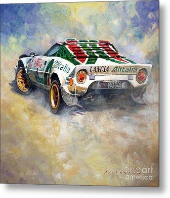 Lancia Stratos 1976 Rallye Sanremo Metal Print by Yuriy Shevchuk
