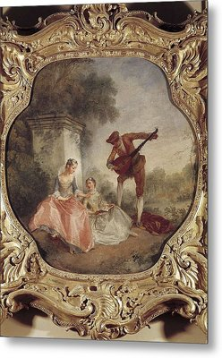 Lancret, Nicolas 1690-1743. The Music Metal Print