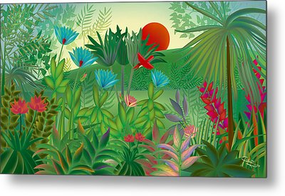 Land Of Flowers - Limited Edition 2 Of 15 Metal Print