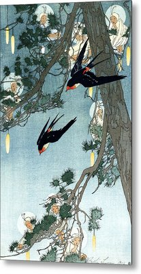 Land Of The Bluebird Metal Print by Pg Reproductions