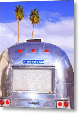 Land Yacht Palm Springs Metal Print by William Dey