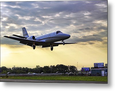 Landing At Sunrise Metal Print by Jason Politte