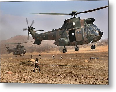 Landing Zone Metal Print by Paul Job