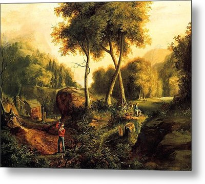 Metal Print featuring the painting Landscape - 1845 by Thomas Cole