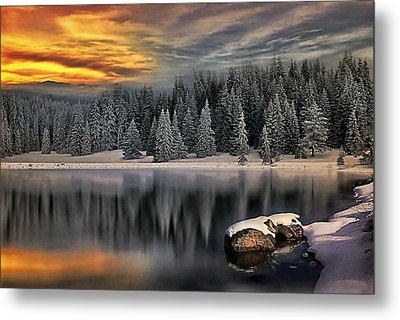 Landscape Art Metal Print by Digital Art Cafe