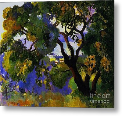 Landscape At St Tropez  2 Metal Print by Pg Reproductions
