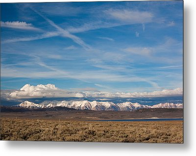 Landscape By A Lake Crowley With White Metal Print by Panoramic Images