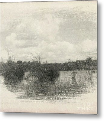 Landscape In Patches Metal Print