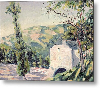 Landscape In Provence Metal Print by French School
