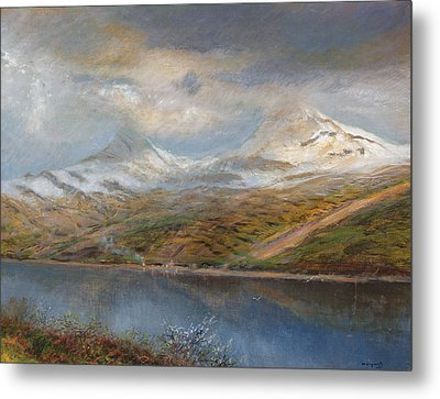 Landscape In The Tatra Mountains Metal Print by Laszlo Mednyaszky