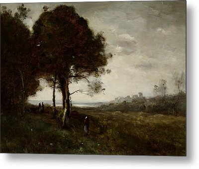Landscape Metal Print by Jean Baptiste Camille Corot