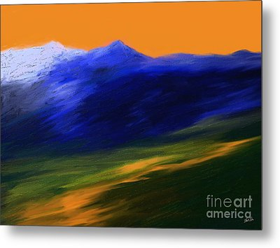 Landscape No 210 Metal Print by Shesh Tantry