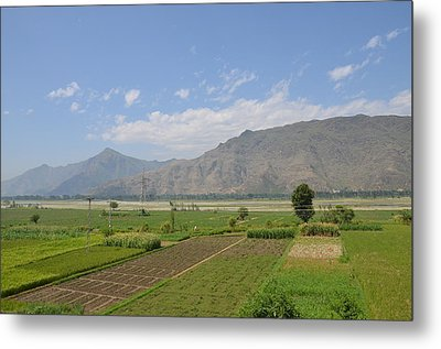 Metal Print featuring the photograph Landscape Of Mountains Sky And Fields Swat Valley Pakistan by Imran Ahmed