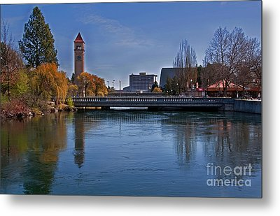 Metal Print featuring the photograph Landscape Of Spokane Wa Riverfront Park  by Valerie Garner