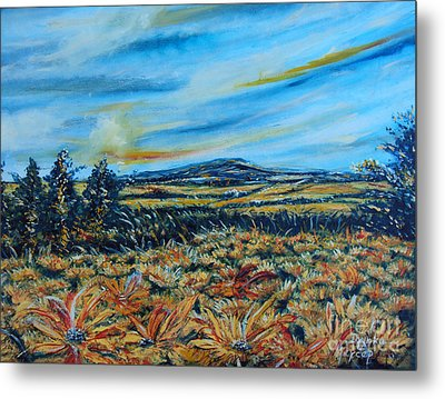 Landscape Sunflowers Field  Metal Print by Drinka Mercep