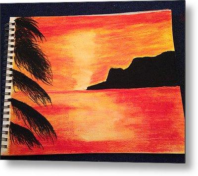 Landscape Sunset Metal Print by  Jessica Hope