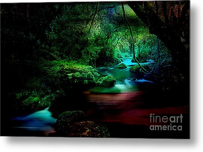 Landscape Waler Flows Metal Print by Marvin Blaine