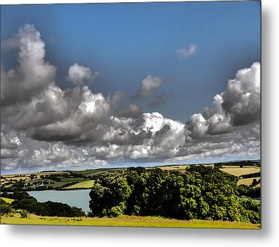 Landscape With Clouds Metal Print