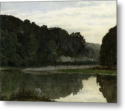 Landscape With Heron Metal Print by William Frederick Yeames
