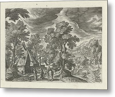 Landscape With The Good Samaritan And The Injured Passenger Metal Print