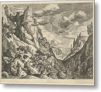 Landscape With The Temptation Of Christ In The Desert Metal Print