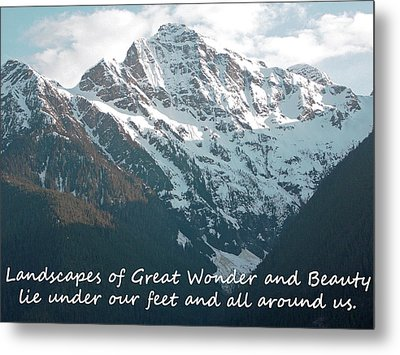 Landscapes Of Great Wonder  Metal Print