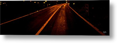 Lanes Towards The Horizon Metal Print by Marcello Cicchini