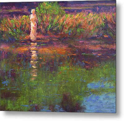 Langan Lake Reflections Metal Print