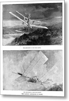 Langley's Steam-powered Model Plane Metal Print by Universal History Archive/uig