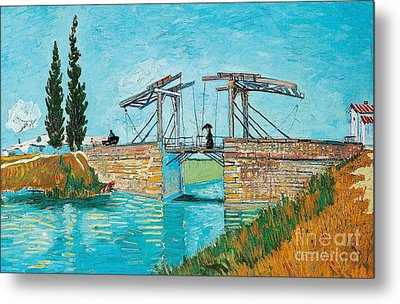 Langlois Bridge At Arles Metal Print by Vincent van Gogh