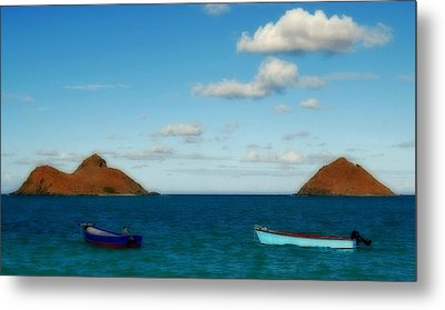 Metal Print featuring the photograph Lanikai Beach by Caroline Stella