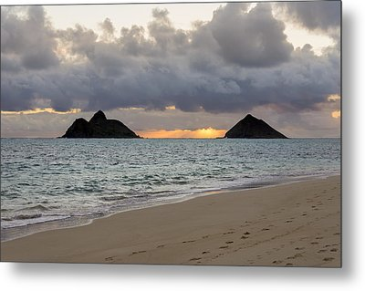 Lanikai Beach Sunrise 4 - Kailua Oahu Hawaii Metal Print by Brian Harig