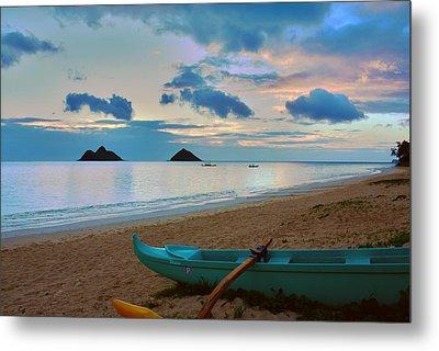 Lanikai Beach Sunrise 6 - Kailua Oahu Hawaii Metal Print by Brian Harig