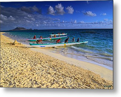 Metal Print featuring the photograph Lanikai Catamarans In The Morning by Aloha Art
