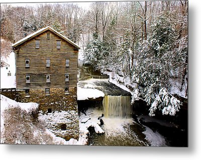 Lanterman's Mill In Winter Metal Print