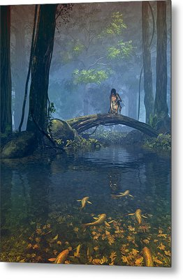 Lantern Bearer Metal Print by Cynthia Decker
