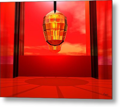 Lantern Light Metal Print